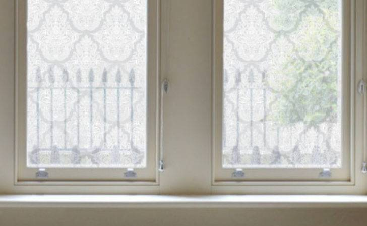 Damask Design Etched Window Film Privacy