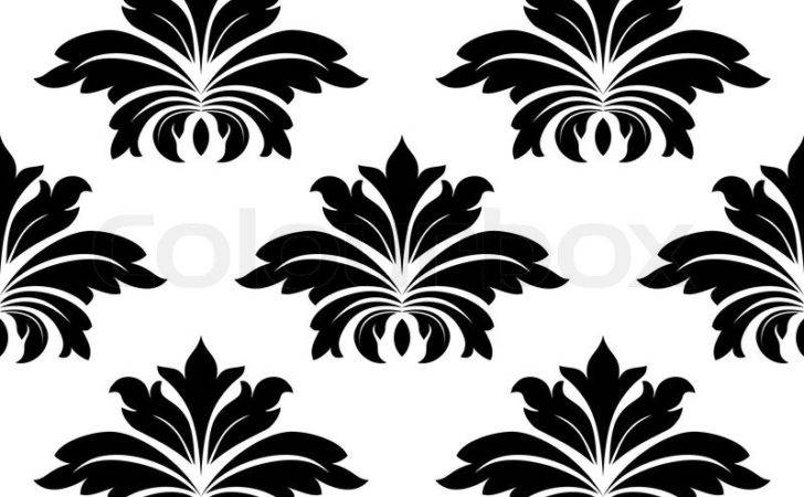 Damask Seamless Pattern Bold Flowers
