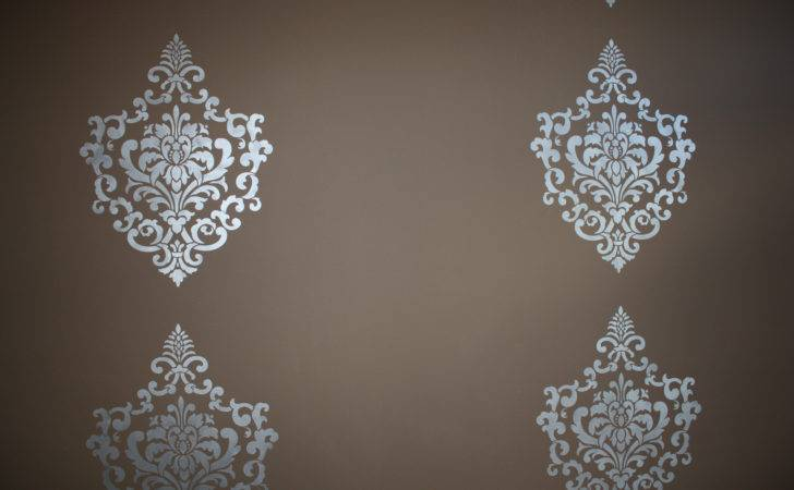Damask Stenciled Accent Wall Classic Fauxs Finishes