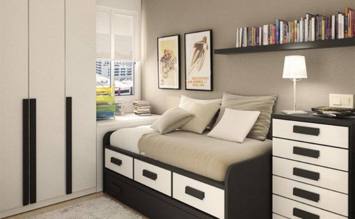 Dark Furniture Modern Small Bedroom Interior Design