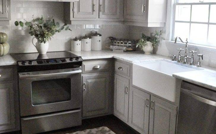 Dear Lillie Darker Gray Cabinets Our Marble Review