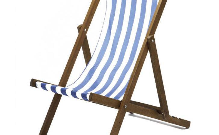 Deck Chair Blue White Hire Well Dressed Tables London
