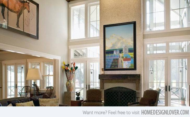 Decorate Interior High Ceilings Home