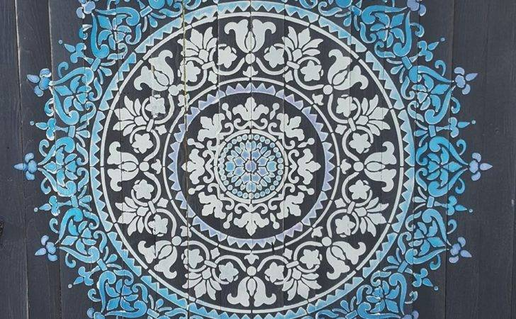 Decorate Your Space Mandala Stenciled Wall Art
