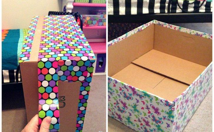 Decorating Cardboard Boxes Storage