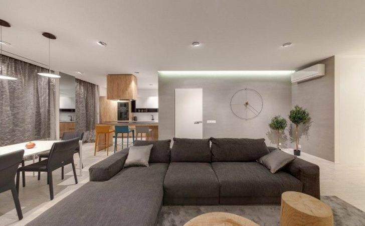 Decorating Contemporary Living Room Interior Combined