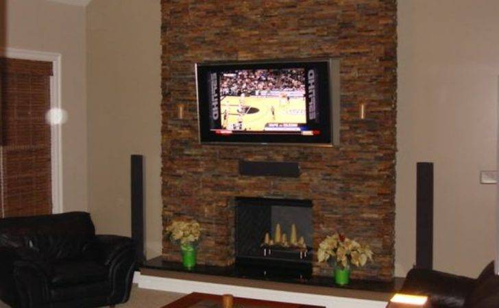 Decoration Astounding Corner Stone Fireplace Decor