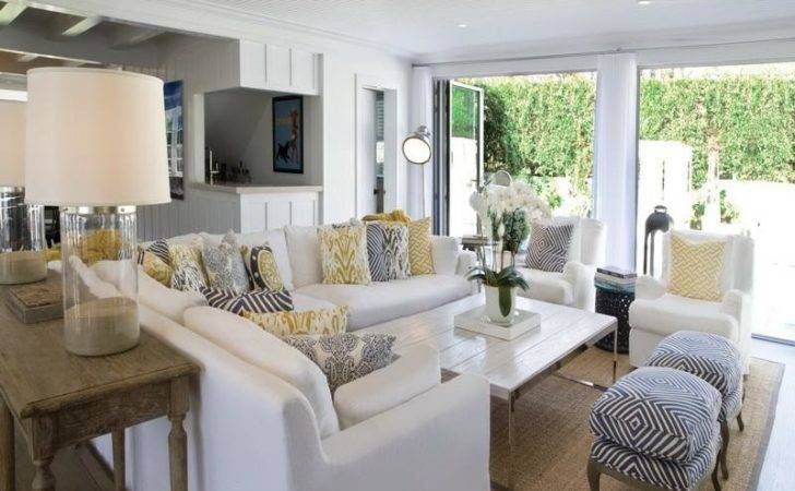Decoration Beach Style Living Rooms White Sofa