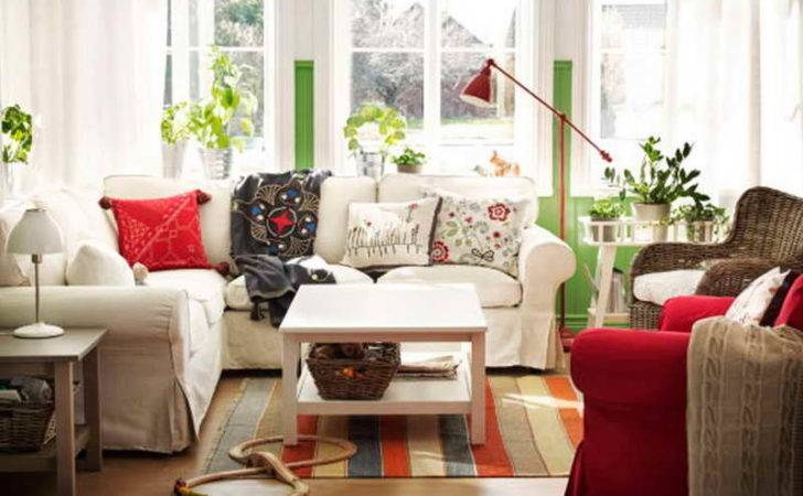 Decoration Cottage Style Decorating Red Accents