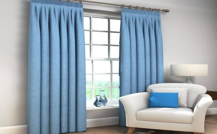 Decoration Tonga Blue Large Ready Made Blackout Curtains