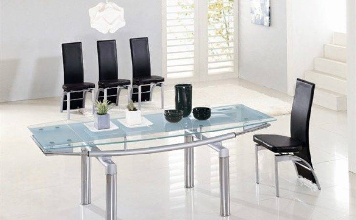 Delta Extending Glass Dining Table