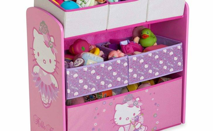 Delta Hello Kitty Multi Bin Toy Organizer Storage Boxes