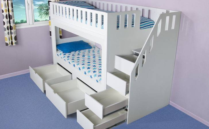 Deluxe Funtime High Sleeper Bunk Bed Drawers