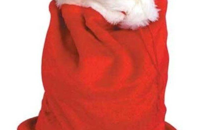 Deluxe Red Plush Santa Sack Father Christmas Accessories