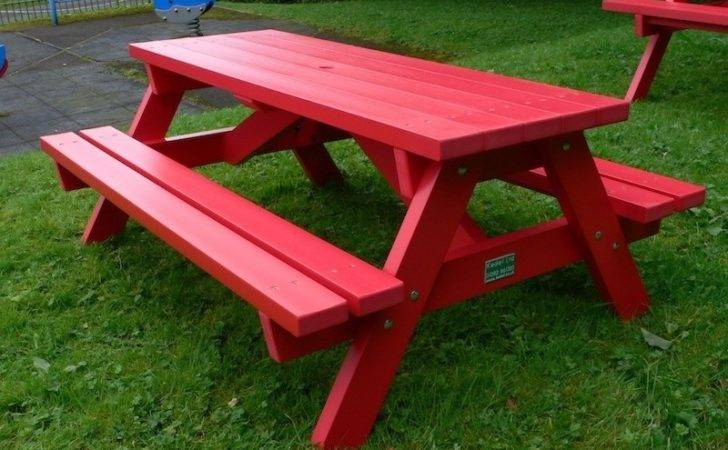 Derwent Recycled Plastic Junior Picnic Table Bench Trade