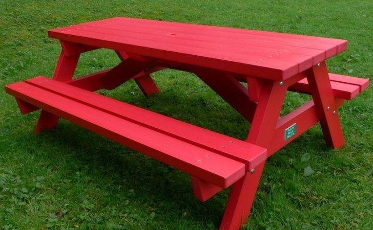 Derwent Recycled Plastic Picnic Table Bench Education