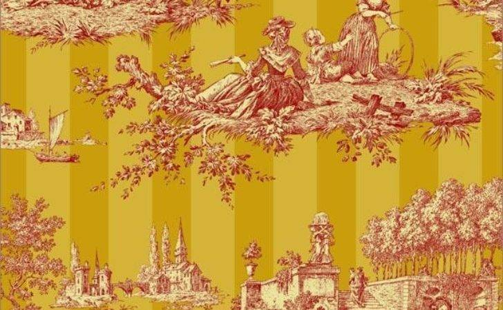 Designer French Country English Cottage Toile