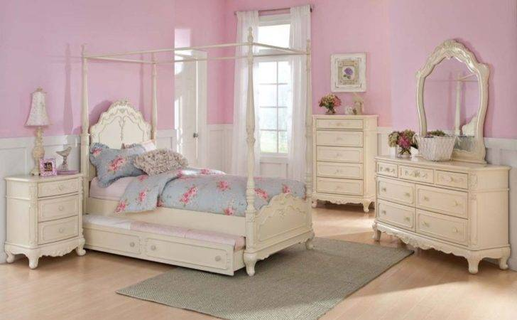 Details Twin Canopy Bedroom Youth Princess Rebecca