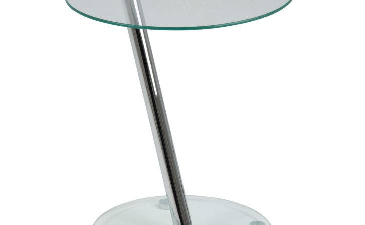 Dexter Clear Round Glass Side Table