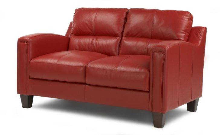 Dfs Bounty Red Sofa Real Leather Settee Ebay