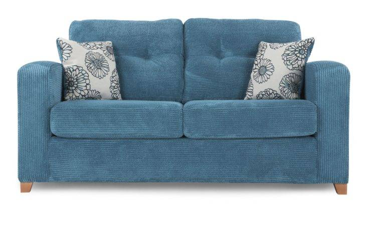 Dfs Meadow Teal Formal Back Settee Seater Fabric Sofa