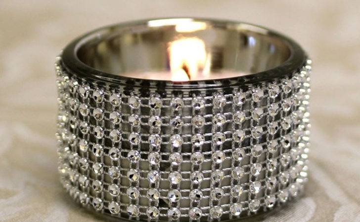 Diamante Tealight Holders Party Mall