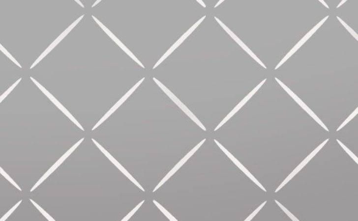 Diamond Lattice Geometric Pattern Stencil
