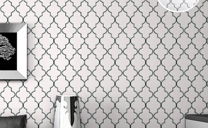 Diamond Print Moroccan Lattice Modern Trellis