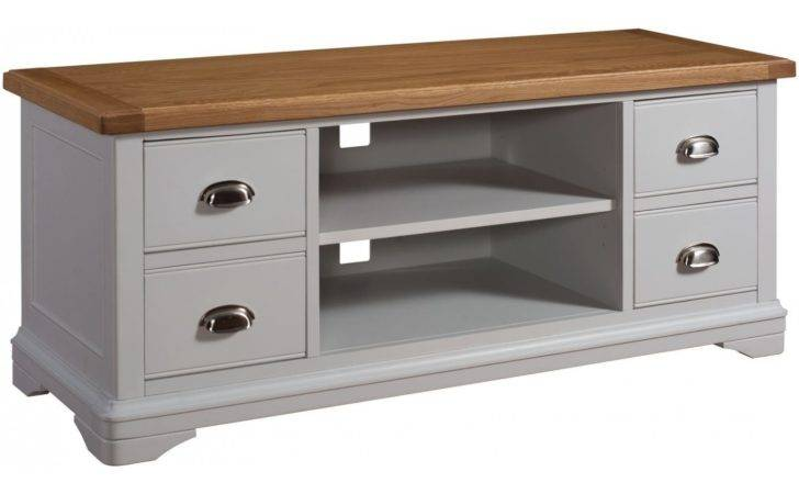 Dillon Oak Grey Painted Furniture Living Room Television