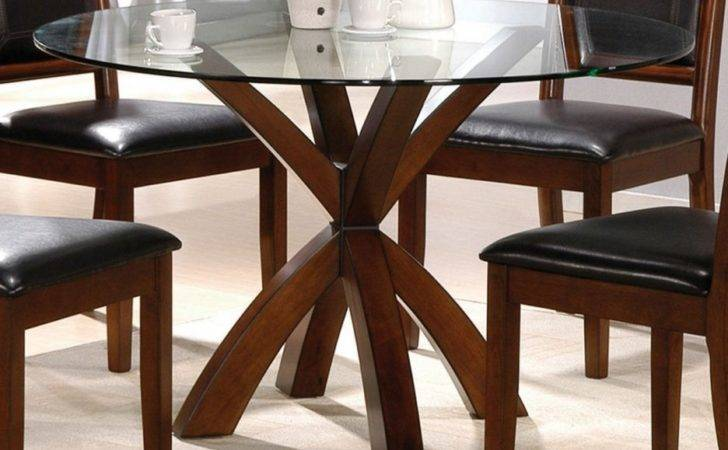 Dining Room Washed Oak Table Come Round Glass