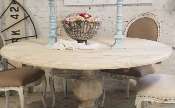 Dining Table Round Shabby Chic
