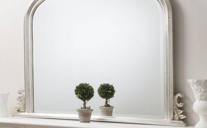 Direct Thornby Silver Over Mantel Mirror