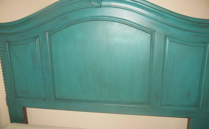 Distressed Turquoise Headboard Berry Quite Contrary