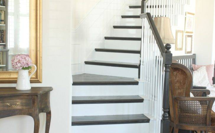 Diy Black White Staircase