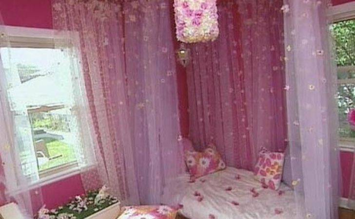 Diy Canopy Bed Little Girl Floral Bedroom Cotcozy
