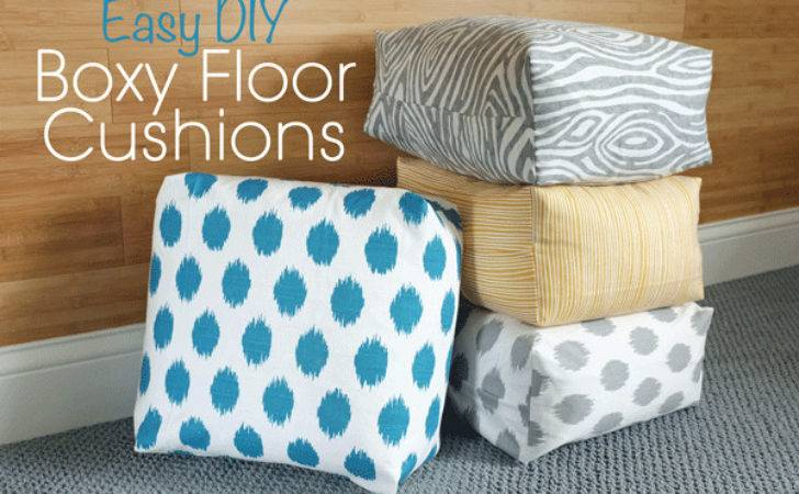 Diy Easy Boxy Floor Cushions