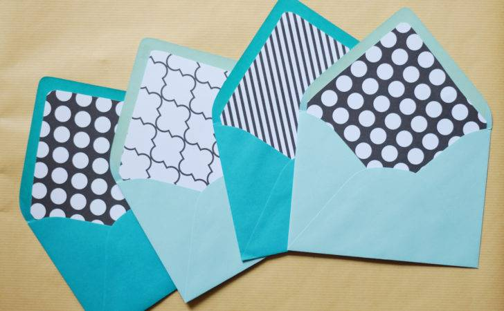 Diy Envelope Liners Touch Teal