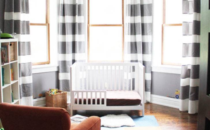 Diy Extra Long Horizontal Stripe Curtains Ikea Hackers