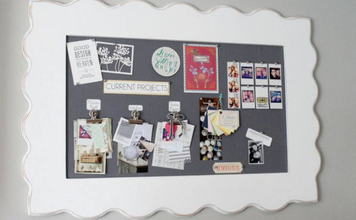 Diy Framed Fabric Pin Board Blogger Office Makeover