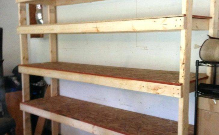 Diy Garage Shelving Units Sturdy Shelf Plans Venidami
