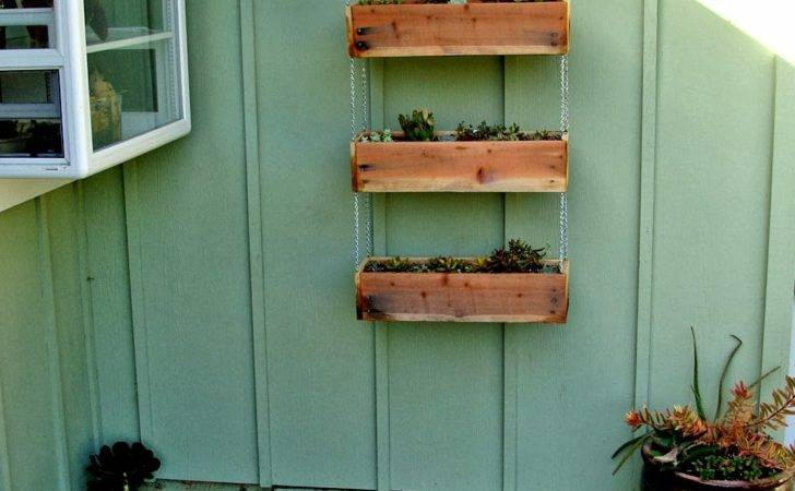 Diy Hanging Wood Planter Boxes Wall Chains