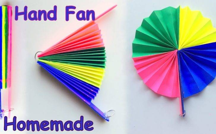 Diy Homemade Paper Hand Fan Best Out Waste Kids