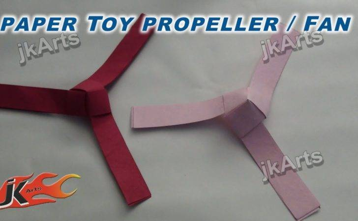 Diy Make Paper Toy Fan Propeller Easy Craft