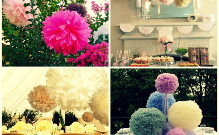 Diy Pom Wedding Decorations Accessory