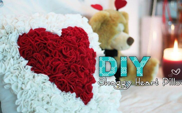 Diy Shaggy Heart Pillow Perfect Valentines Day