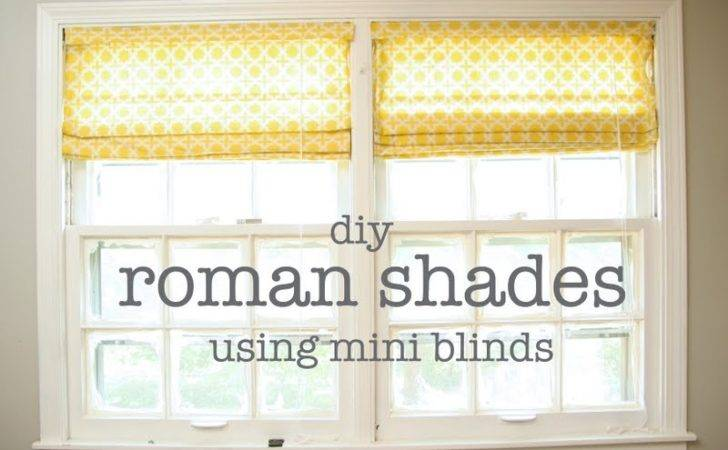 Diy Window Treatments Roman Shades Homemade Ginger