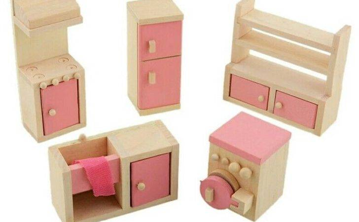 Doll House Wooden Kitchen Furniture Set Cad