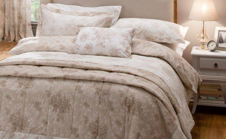 Dorma Rose Toile Bed Linen Set Natural Bradbeers
