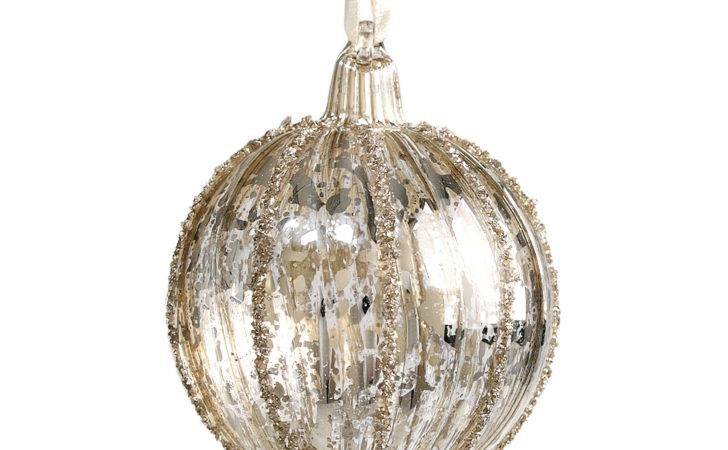 Dotcomgiftshop Small Vintage Silvered Glass Bauble