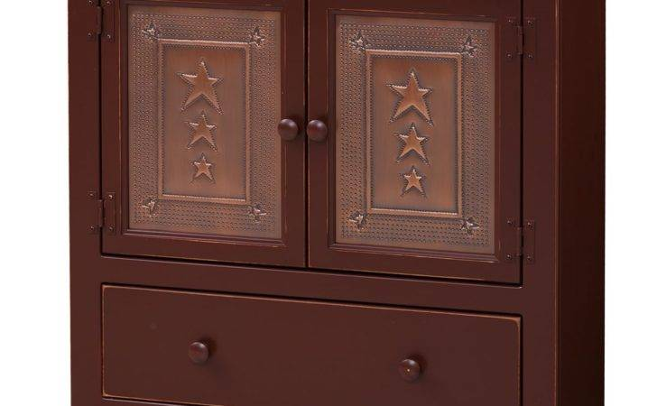 Double Hall Cabinet Tin Doors Drawers Peaceful